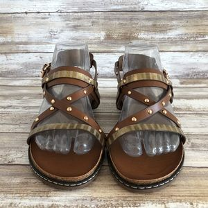 bbbf3bca0e3 Corkys Shoes - Corkys Chloe Brown Faux Leather Casual Sandals.
